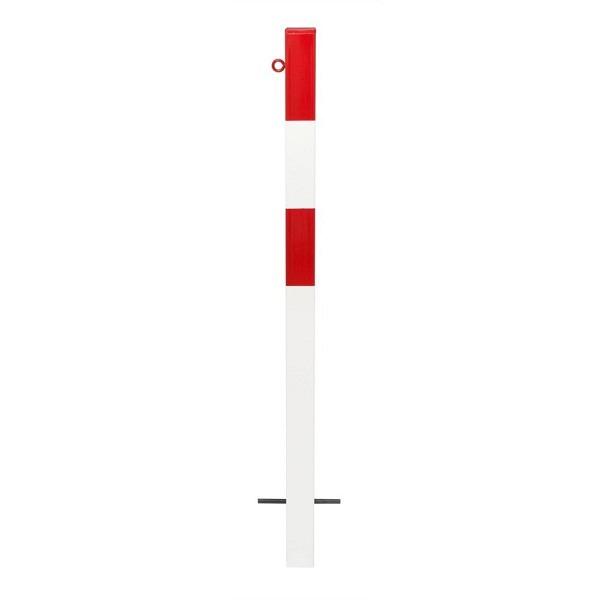 MORION Absperrpfosten 70x70 mm Rot-weiss lackiert