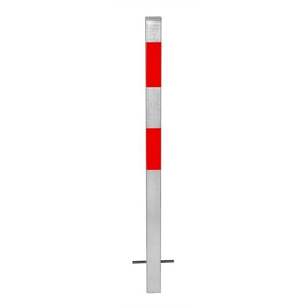 MORION Absperrpfosten 70x70 mm Feuerverzinkt und reflektierend
