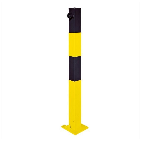 Kipp-Pfosten SESAM Feuerverzinkt und gelb-schwarz lackiert