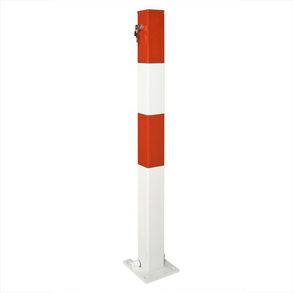 Kipp-Pfosten SESAM Feuerverzinkt und rot-weiss lackiert
