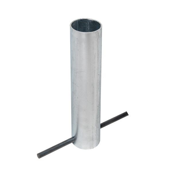 Wien Bodenhülse feuerverzinkt Für Pfosten Ø 108 mm, Länge ca. 330 mm