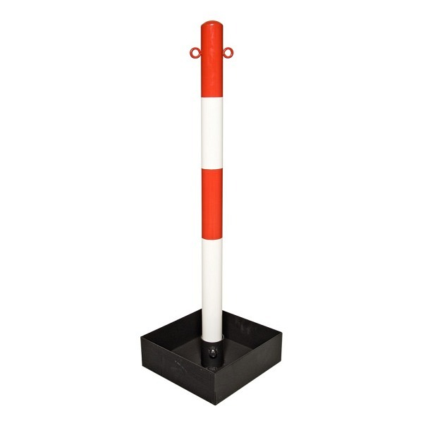 Kettenständer EXTERN, mit Stahlfuss Rot-weiss