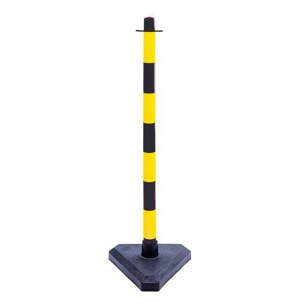 GUARDA leichter-Ketten-Warnständer schwarz-gelb
