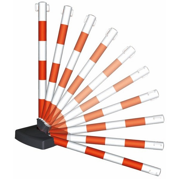 GUARDA-Flex Ketten-Warnständer, 2 Ösen Klappbar, Ø 50mm, Höhe 900mm