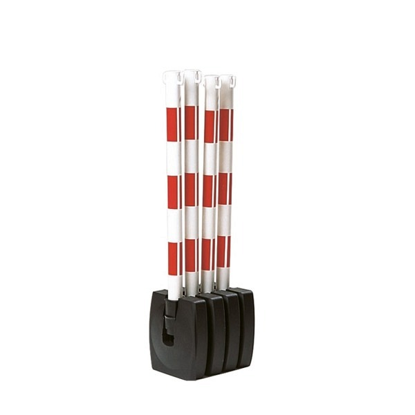 GUARDA-Flex Kettenständer-Set Klappbar, Ø 50mm, Höhe 900mm, 2 Ösen