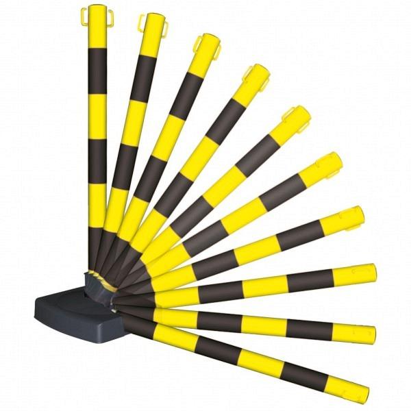 MORION Flex Ketten-Warnständer, 2 Ösen Klappbar, Ø 50mm, Höhe 900mm