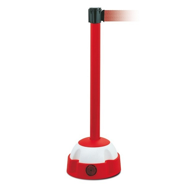 MORION Gurt-Warnständer Rot lackiert, Gurtfarbe rot