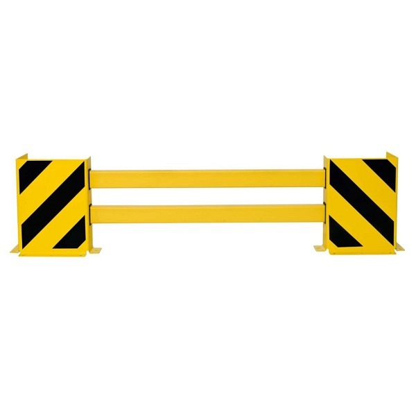 BLACK BULL Regalschutz-Planken-Set C Ausziehbar, gelb mir schwarzen Streifen