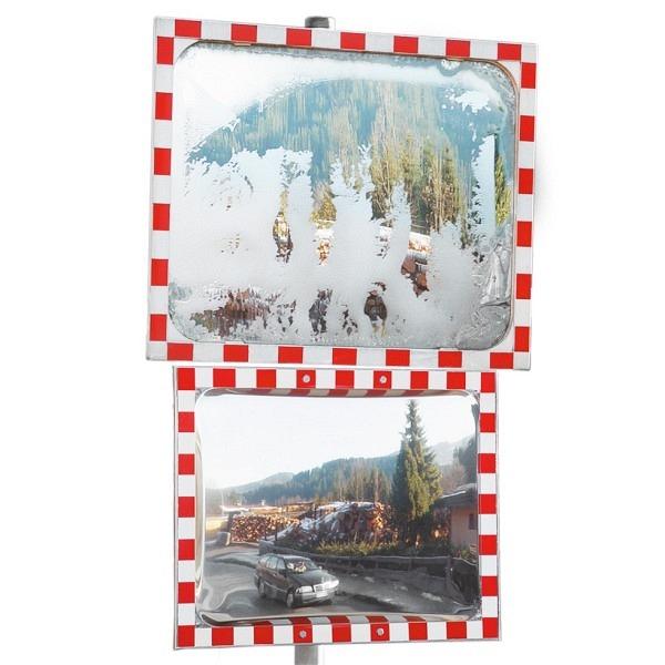 Verkehrs- und Beobachtungsspiegel DURABEL Ice Free, rot-weiss