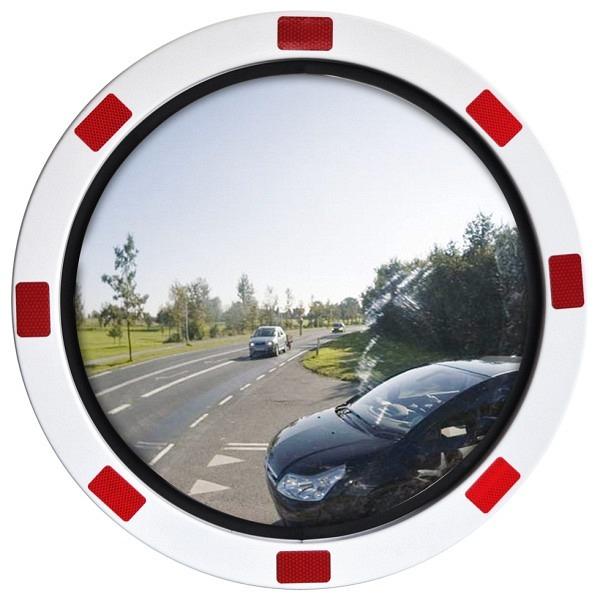Verkehrs- und Beobachtungsspiegel DURABEL Ice Free ECO, rot-weiss