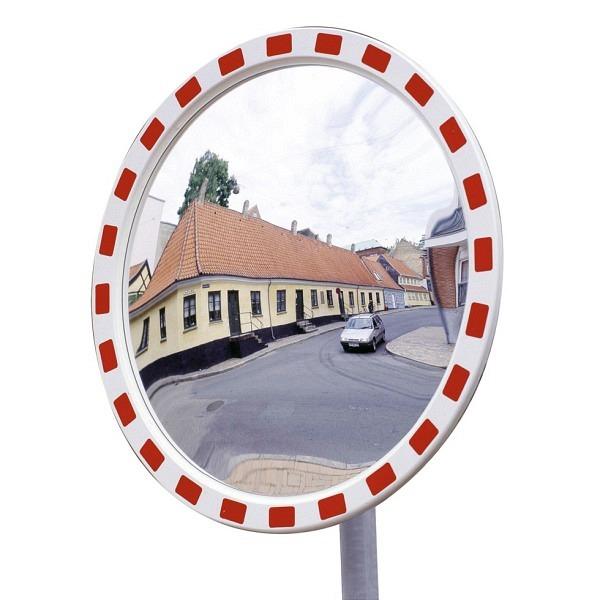 Verkehrs- und Beobachtungsspiegel EUCRYL, rot-weiss