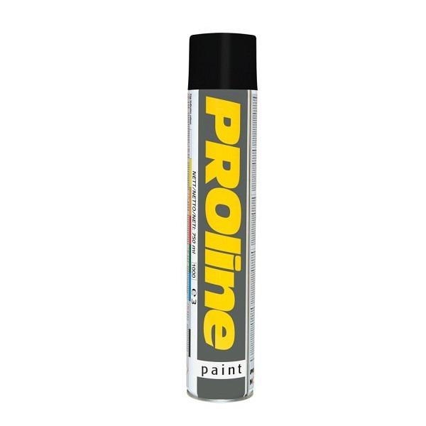 PROline Verkehrsfarbe schwarz RAL 9017 Linienmarkierfarbe, Grossdose à 750 ml