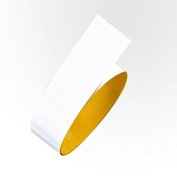 PROline Bodenmarkierband Stahl Weiss