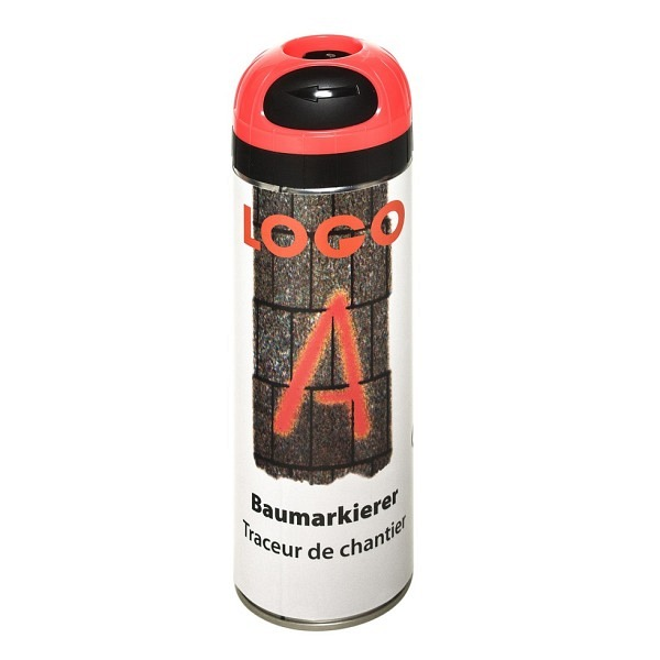 LOGO - A Baumarkierer à 500 ml Grossdose Farbe rot
