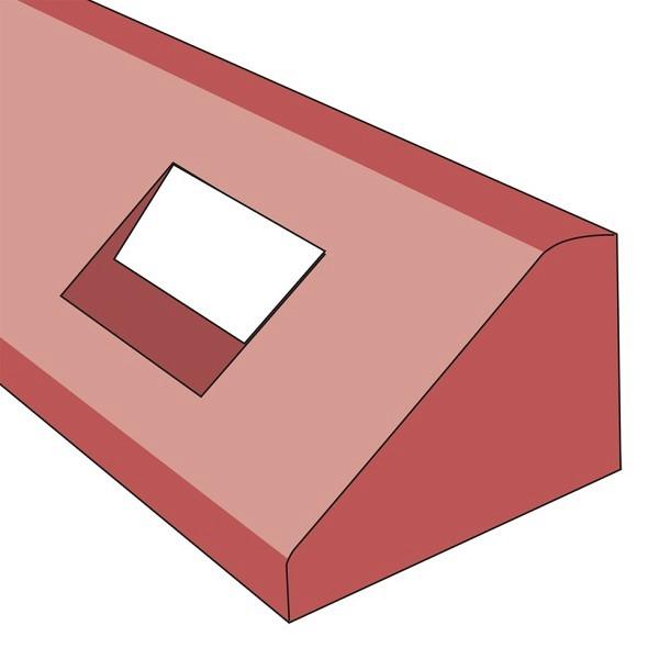 Elastikbordstein rotbraun Relexstreifen Grösse ca. 10x15x125 cm