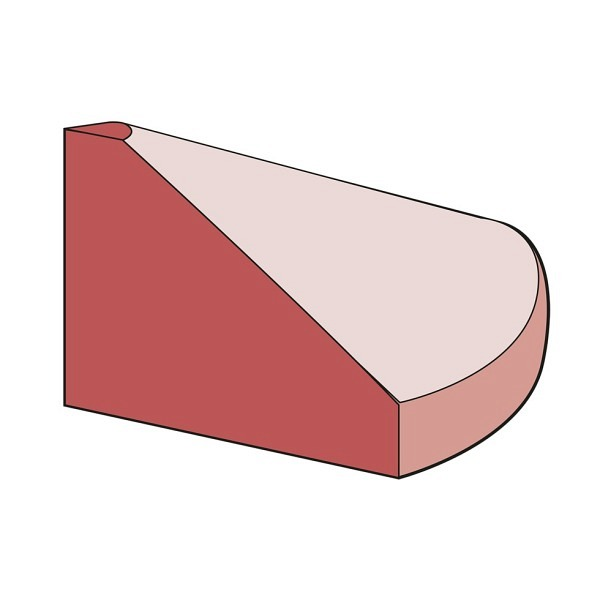 Endstück flach Elastikbordstein rotbraun 15x15x10 cm, 1 kg, inkl. Montagematerial