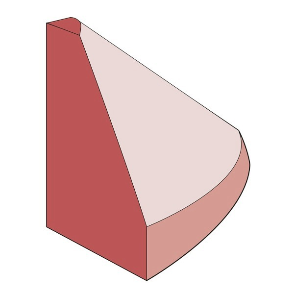 Endstück hoch Elastikbordstein rotbraun 10x15x10 cm, 1 kg, inkl. Montagematerial