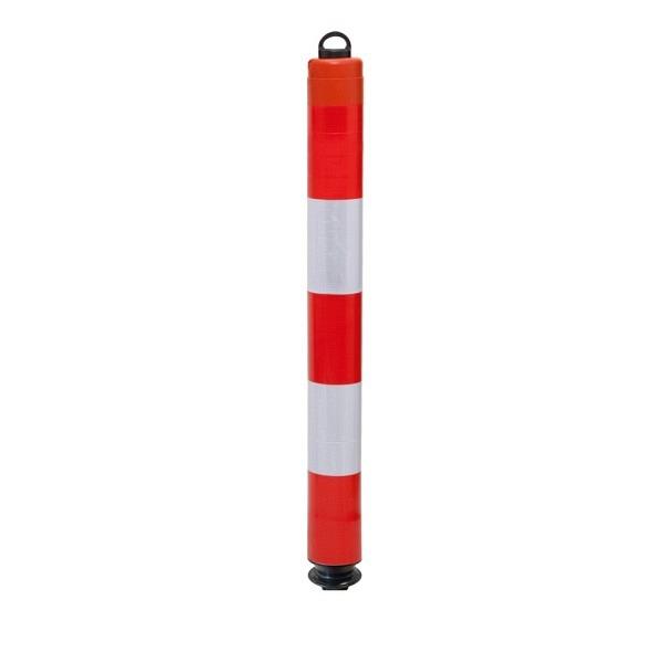 LeitPin mit Oesenkappe, 1000 mm Retroreflektierend, rot-weiss, Ø 100 mm