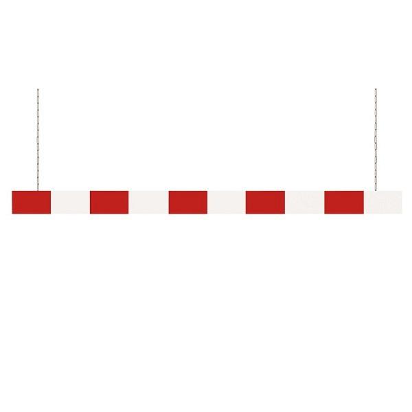 Aluminium Höhenbegrenzer Weiss lackiert, roten refl. Streifen