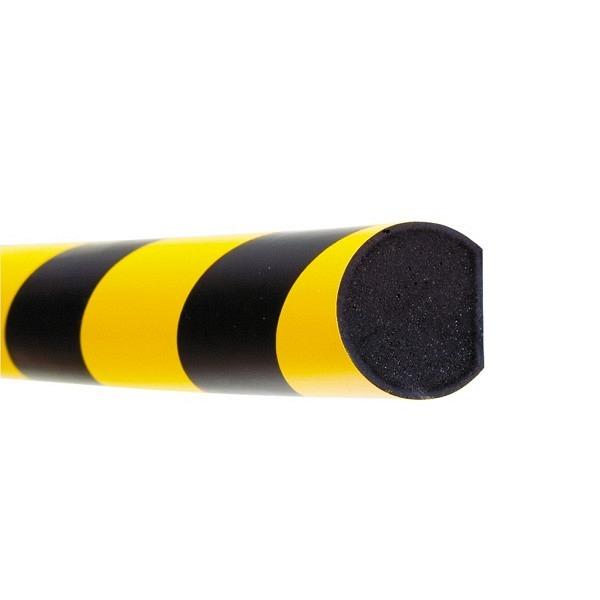 MORION Prallschutz, 1 m Länge Flächenschutz, schwarz gelb