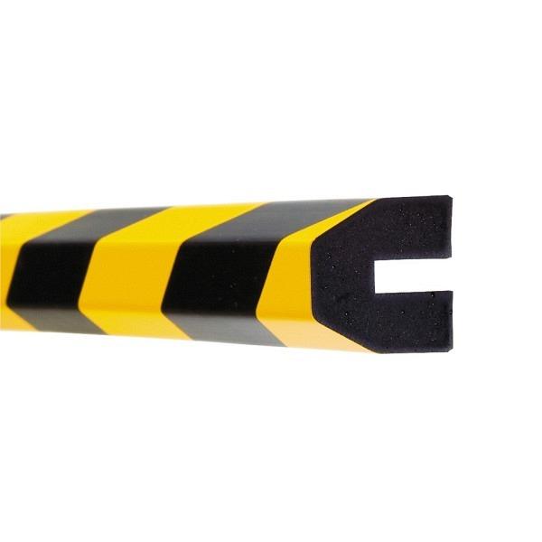 MORION Prallschutz, 1 m Länge Profilschutz, schwarz gelb