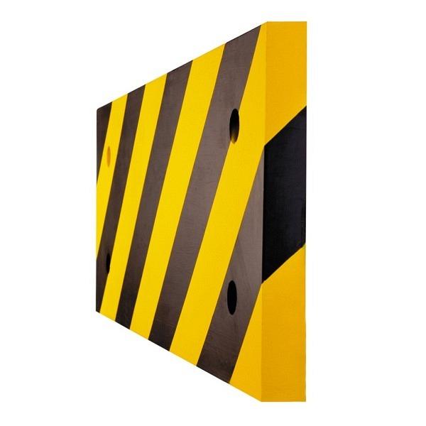 MORION Säulenschutz mit Stahlblech Konzipiert für Ecksäulen, 500/200/20 mm