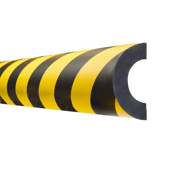 MORION Prallschutz, 1 m Länge Rohrschutz, schwarz gelb