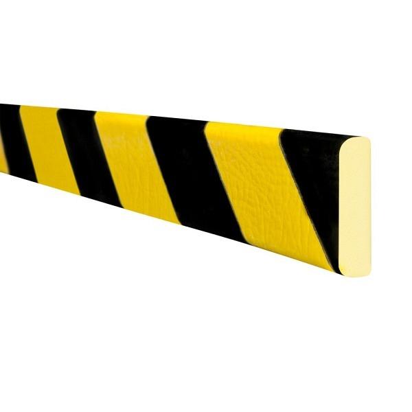 MORION Prallschutz, 5 m Länge Flächenschutz, schwarz gelb